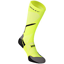 Buy Hilly Vivid Night Compression Running Socks, Fluorescent Yellow/Black Online at johnlewis.com
