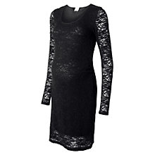Buy Mamalicious Lacy Lace Maternity Dress, Black Online at johnlewis.com