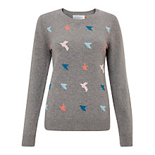 Buy Collection WEEKEND by John Lewis Mini Bird Intarsia Jumper, Grey Multi Online at johnlewis.com