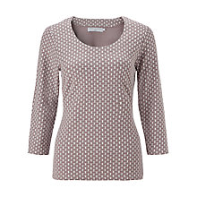 Buy John Lewis Capsule Collection Brick Pattern Top, Zinc/Cream Online at johnlewis.com