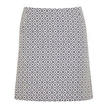 Buy Miss Selfridge Floral Mini Skirt, White Online at johnlewis.com