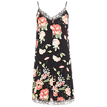 Buy Miss Selfridge 90s Lace Slip Dress, Black Online at johnlewis.com