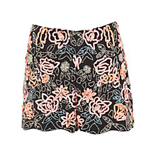 Buy Miss Selfridge Embellished Black Skort, Coral Online at johnlewis.com