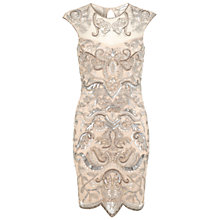 Buy Miss Selfridge Embellished Bodycon Dress, Nude Online at johnlewis.com