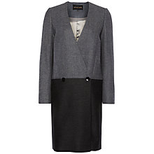 Buy Jaeger Colourblock Wool Coat, Dark Grey Online at johnlewis.com