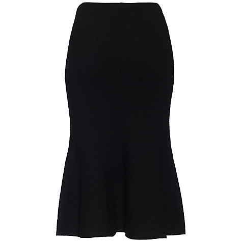 Buy Jaeger Merino Knit Skirt, Black Online at johnlewis.com