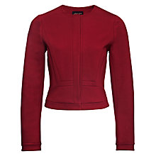 Buy Jaeger Compact Jersey Jacket, Winter Berry Online at johnlewis.com