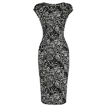 Buy Oasis Animal Print Dress, Black/White Online at johnlewis.com