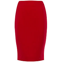 Buy Jaeger Wool Crepe Pencil Skirt, Cherry Red Online at johnlewis.com