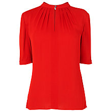 Buy L.K. Bennett Tilly Gather Neck Top Online at johnlewis.com