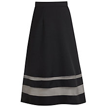 Buy Miss Selfridge Organza Insert Skirt, Black Online at johnlewis.com