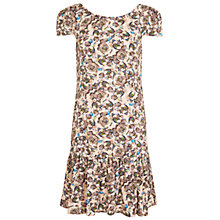 Buy Miss Selfridge Peplum Floral Dress, Pink Online at johnlewis.com