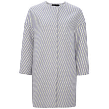 Buy Jaeger Herringbone Wrap Coat, Ice Blue Online at johnlewis.com