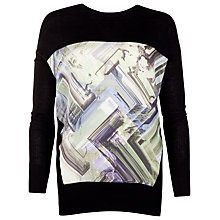 Buy Ted Baker Parquet Geo Print Jumper, Black Online at johnlewis.com