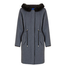 Buy Jigsaw Double Faced Wool Drawstring Coat, Grey Online at johnlewis.com