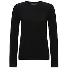 Buy Jaeger Gostwyck Crew Neck Jumper, Black Online at johnlewis.com