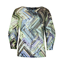 Buy Ted Baker Parquet Geo Print Jumper, Green/Multi Online at johnlewis.com