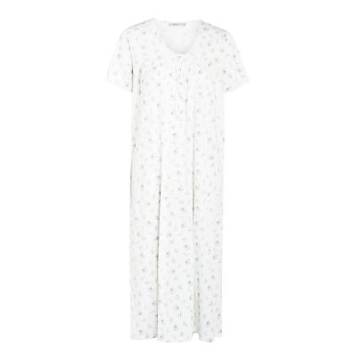 John Lewis Sweet Floral Short Sleeve Nightdress, Ivory Multi