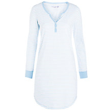 Buy John Lewis Stripe Nightdress, Blue / Ivory Online at johnlewis.com