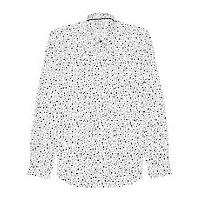 Buy Reiss Ruther Circle Print Shirt, White Online at johnlewis.com