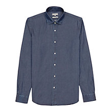 Buy Reiss Rhodes Chambray Shirt, Navy Online at johnlewis.com
