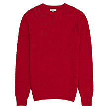 Buy Reiss Aviator Honeycomb Weave Jumper, Red Online at johnlewis.com