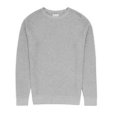 Buy Reiss Laine Raglan Crew Neck Jumper, Grey Online at johnlewis.com