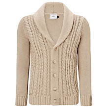Buy John Lewis Made in Italy Chunky Cable Knit Shawl Cardigan Online at johnlewis.com