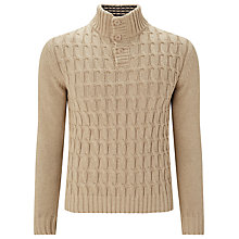 Buy John Lewis Made in Italy Cable Knit Button Neck Jumper Online at johnlewis.com