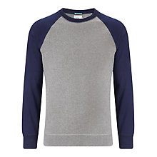 Buy Kin by John Lewis Contrast Raglan Jersey Jumper, Navy/Grey Online at johnlewis.com