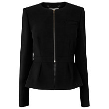 Buy L.K. Bennett Lupin Peplum Detail Jacket, Black Online at johnlewis.com