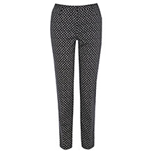 Buy Oasis Diamond Geo Print Trousers, Multi Black Online at johnlewis.com