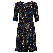 Buy Hobbs Botany Dress, Black Multi Online at johnlewis.com