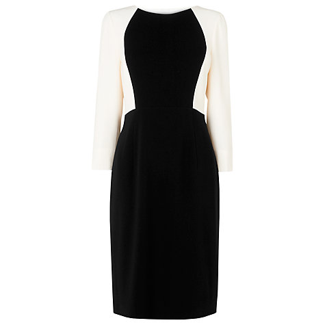 Buy L.K. Bennett Santana Colour Block Shift Dress, Cream Online at johnlewis.com