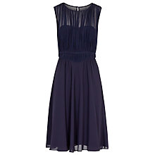 Buy Reiss Cassis Net Overlay Dress, Indigo Online at johnlewis.com