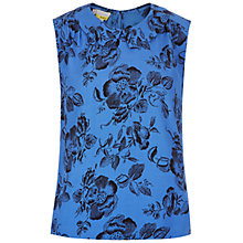 Buy Hobbs Botany Top, Sky Blue/Black Online at johnlewis.com
