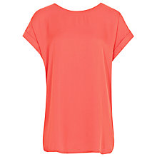 Buy Reiss Elsie Fluid Scoop Neck Top, Coral Online at johnlewis.com