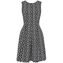 Buy Closet Geo Print Dress, Black/White Online at johnlewis.com