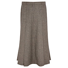 Buy Viyella Herringbone Fit And Flare Skirt, Mink Online at johnlewis.com