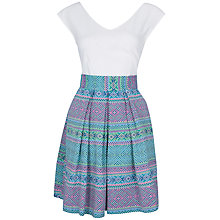 Buy Almari Contrast Check Jacquard Dress, Multi Online at johnlewis.com
