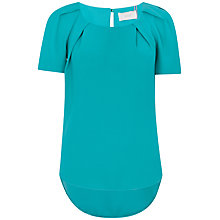 Buy Almari Pleat Neck Blouse, Green Online at johnlewis.com