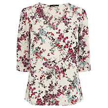 Buy Oasis Painted Blossom Top, Multi Online at johnlewis.com