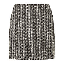 Buy L.K. Bennett Maria Tweed A-Line Skirt, White/Black Online at johnlewis.com
