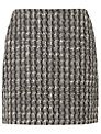 L.K. Bennett Maria Tweed A-Line Skirt, White/Black