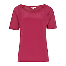 Buy Reiss Paro Relaxed Scoop Front Top, Warm Cherry Online at johnlewis.com