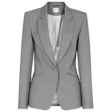 Buy Reiss Millie Seamed Fitted Jacket, Grey Online at johnlewis.com