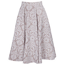 Buy Closet Jacquard Panel Skirt, Taupe Online at johnlewis.com
