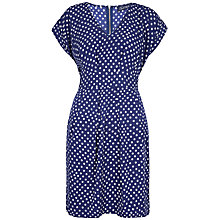 Buy Closet Polka Tie Back Dress, Navy Online at johnlewis.com