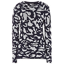 Buy Reiss Tessa Camouflage Knitted Jumper, Chalk / Navy Online at johnlewis.com