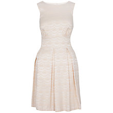 Buy Closet Jacquard Cutout Back Dress, Gold Online at johnlewis.com